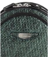 Carven Metallic Green Leather Natte Bag