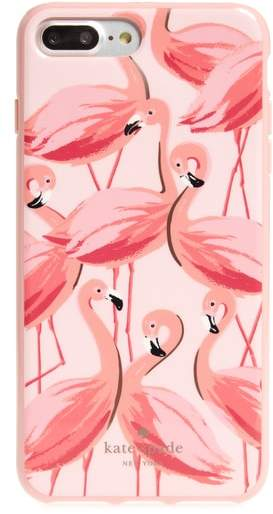 Kate Spade painted flamingos iPhone 7/8 & 7/8 Plus case