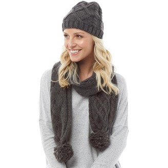 Onfire Womens Cable Knit Hat Charcoal Marl