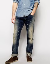 Lee Jeans by Donwan Harrell Chase Relaxed Tapered Fit Dark Tinted Distressed