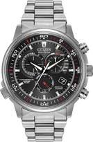 Citizenx Citizen #AT4110-55E Men's Eco Drive Atomic Nighthawk A-T Stainless Steel Chronograph Watch