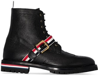 Thom Browne Wing Tip commando boots