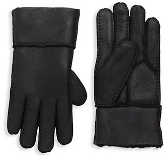 Surell Shearling-Lined Leather Gloves
