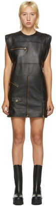 Versace Black Leather Jacket Dress
