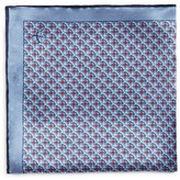Canali Diamond Connected Square Print Pocket Square