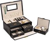 Bey-Berk Two-Tier Leather Jewelry Box