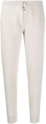 Brunello Cucinelli Ribbed Slim-Fit Track Pants
