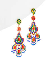 Miguel Ases 18K Plated Gemstone & Crystal Drop Earrings