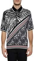 Dolce & Gabbana Printed Silk Polo Shirt