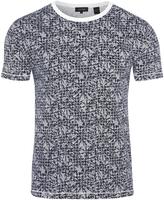 Oxford Max Palm Leaf T-Shirt Dk Nvy X