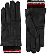 Thom Browne Men's Cashmere-Lined Leather Gloves-BLACK