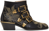Chloé Black and Gold Susanna Boots