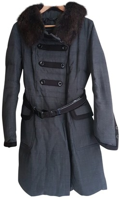 Ermanno Scervino Grey Cotton Coat for Women