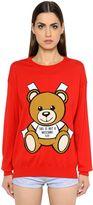 Moschino Bear Intarsia Cotton Knit Sweater