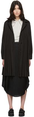 Pleats Please Issey Miyake Black Janty Coat