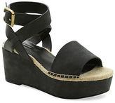 Kensie Teal Nubuck Platform Sandals