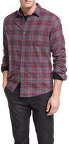 Vince Shadow Plaid Cotton Shirt