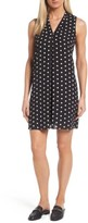 Vince Camuto Women's Polka Dot Inverted Pleat Shift Dress