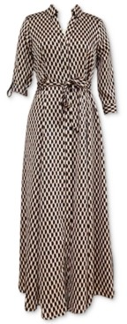 INC International Concepts Inc Geo-Print Maxi Shirtdress, Created for Macy's