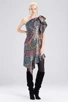 Natori Bohemia Garden Jacquard One Shoulder Dress