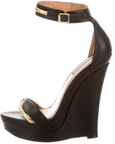 Rachel Zoe Leather Wedge Sandals