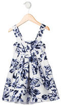 Helena Girls' Floral Print Sleeveless Dress