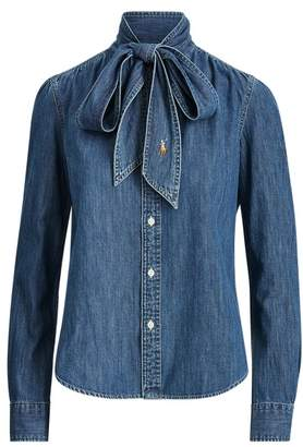 Ralph Lauren Necktie Denim Shirt