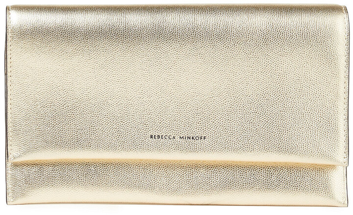 Rebecca Minkoff Metallic Textured-leather Continental Wallet