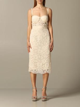 Elisabetta Franchi Sheath Dress In Lace