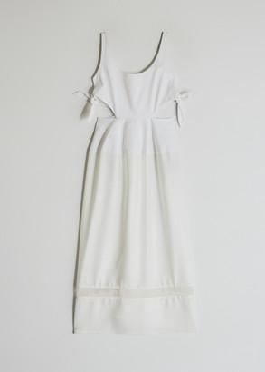 Ellery Women's Voyage Scoop Neck Peplum Dress in White, Size 10   100% Cotton