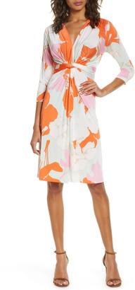 Ilse Jacobsen Floral Twist Front Dress