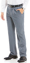 Roundtree & Yorke Big & Tall Travel Smart Non-Iron Classic-Fit Pleated Herringbone Dress Pants