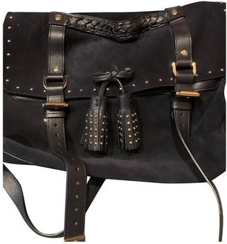 Mulberry Alexa Navy Suede Handbags