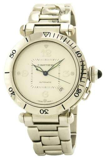 Cartier Pasha 2353 18K White Gold Automatic 38mm Men's Watch