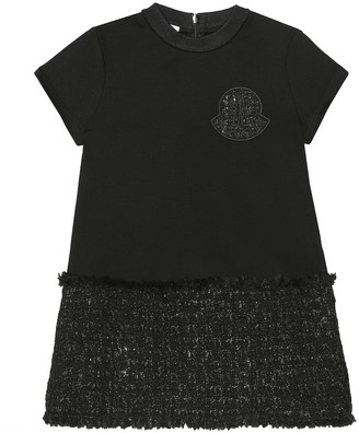 Moncler Enfant Jersey and tweed T-shirt dress