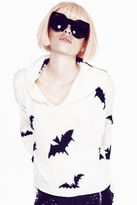 Wildfox Couture Bats Hooded Billy Sweater in Champagne