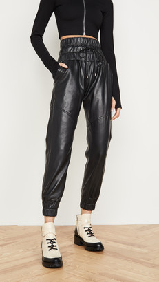 Marissa Webb Dalton Leather Joggers
