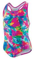 Speedo Girls Tie Dye Sky Racerback One Piece Swimsuit