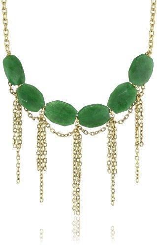 Yochi Design Yochi Green J Warp Around Necklace