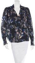 Parker Silk Floral Print Blouse w/ Tags