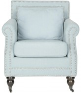 The Well Appointed House Safavieh Karsen Upholstered Club Chair in Sky Blue
