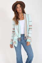 Goddis Biya Fringe Cardigan In Bali Bliss