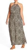 City Chic Plus Size Women's Animal Print Maxi Dress