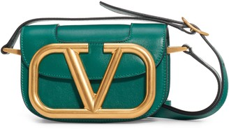 Valentino Garavani Small Supervee Calfskin Leather Shoulder Bag