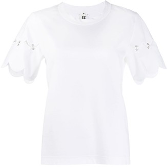 Comme des Garcons short sleeve scalloped hem T-shirt
