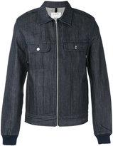 A.P.C. zipped denim shirt jacket - men - Cotton - S