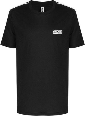 Moschino logo-tape cotton T-shirt