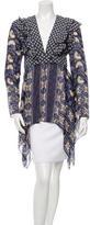 Anna Sui Silk Printed Top