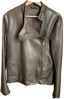 Maison Margiela Green Leather Jackets