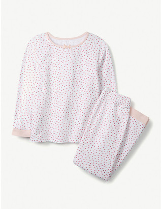 The Little White Company Heart-print cotton pyjamas 1-6 years